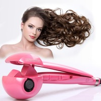 2014  Titanium Automatic Hair Curls Magic Hair Curlers Roller Styling Tools Dual Voltage Free Shipping