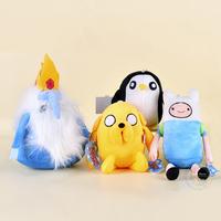 4pcs/lot Classic Soft Baby Kids Finn and Jake Adventure Time Stuffed Plush toys Doll Ice king Penguin Stuffed Animals plushies