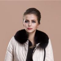 Foxtail Wholesale Dyed Colour Detachable Fur Scarf Womens 55cm Long 13cm width Real Fox Fur Collar