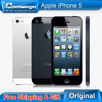 Телефон APPLE iPhone 5, разблокированный сотовый iOS 6 OS двухъядерный 1 G RAM 16 гб 32 гб 64 гб ROM 4,0 inch 8 mp камера wi-fi 3 G GPS