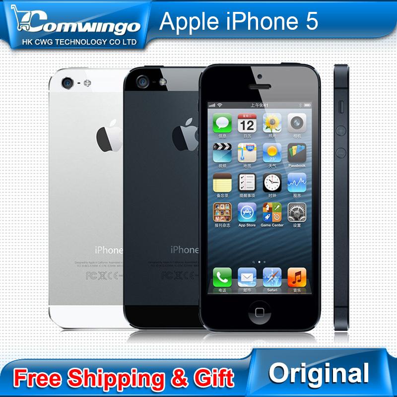 Factory unlocked APPLE iPhone 5 Original Cell Phone iOS 6 OS Dual core 1G RAM 16GB 32GB 64GB ROM 4.0 inch 8MP Camera WIFI 3G GPS(China (Mainland))