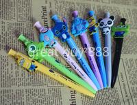 Cartoon Ballpoint Pens 8 pcs/Lot Kawaii Stationery 0.5mm Blue Ball Pen for Writing Caneta Office School Supplies