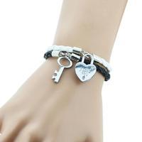 NEW BRAND Leather Bracelet Bangle Charm Bracelet Jewelry LOVE Couple Bracelet Aliexpress For Women Men 2PCS=1SET