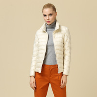 2014 New Fashion Women Casual Winter Outwear Long Sleeve Thin Down Jacket Ladies Short Down Coat Dock Down 15Color Free Shipping