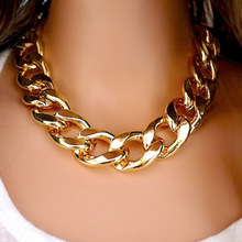 Fashion Necklaces For Women 2014 18K Gold&Silver Plated Gift CCB Chain Statement Necklaces & Pendants Women Jewelry Wholesale(China (Mainland))