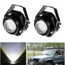 [2pcs/lot] 10W CREE 1100LM LED Off Roads Light Universal Headlight 12V High Power Integrated Car Lights(China (Mainland))