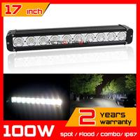 """17"""" 100W LED Light Bar for Tractor ATV 12v 24v Offroad Fog light Spot/Flood/Combo LED Worklight External Light Save on 120w"""