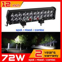 12inch 72w LED Light Bar 12v 24v IP67 Adjustable Bracket Tractor ATV Offroad Fog Light LED Worklight Save on 100w 120w 240w