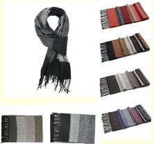 High Quality Winter Warm Scarfs Shawl Plaid Mens Scarves Echarpes Desigual Hijab Men Black Gray Scarf Free Shipping(China (Mainland))