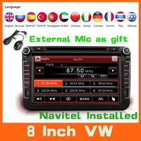 8'' Car DVD GPS For VW Volkswagen Tiguan Jetta Golf  Polo Sedan Transport T5 Touran DVD Automotivo  Autoradio Audio Car Styling