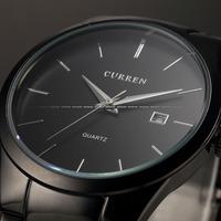 2014 New Hot Sale! Curren Men Sports Watches Men Luxury Brand Quartz Watch Fashion Full Steel Calendar Date Display Casual Watch