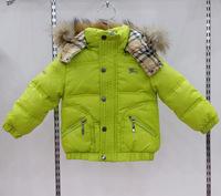 New 2014 Brand Boys,Girls Down Coat Winter Warm Children waterproof duck down jacket with Fur collar baby winter clothing