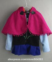 girls  jacket Snow Queen coat Anna braid sweatwear with cap baby clothing girls hoodies children outwear in stock