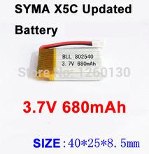 SYMA X5C Original 3.7V 680mAh  Battery for Syma X5 X5C X5A Quadcopter Ar.Drone With HD Camera Extra Spare Parts Accessories
