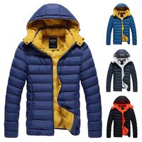 Korean Winter Men Warm Down Jackets Plus Size M--3XL Good Quality Cotton-Padded Outerwear 2014 Man Fashion Parkas Brand Coats