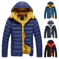 Korean Winter Men Warm Down Jackets Plus Size M--3XL Good Quality Cotton-Padded Outerwear 2014 Man Fashion Parkas Brand Coats