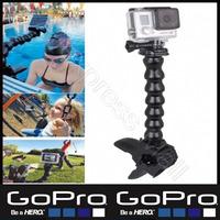 Jaws Flex Clamp Mount  Adjustable Neck for Go Pro Hero 1/2/3/3+ Hero2 Hero3 Hero3+ Camera Sj4000 Gopro Accesories Black Edition