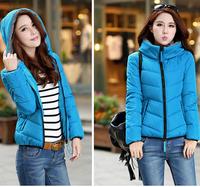 L-4XL Free shipping   Ladies  Short Design Coat Winter  wadded Jacket Women Slim Solid Zipper Outerwear LJ002XGJ