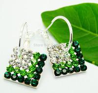 925 Silver Earrings Jewelry Fashion Earrings Fashion Jewelry Crystal Earrings Drop Square MDE130