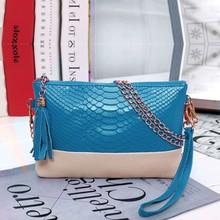 New 2014 Women Synthetic Leather Vitage Design Tassel Bag Clutch handbags Day Shoulder Messenger Bag 5 Colors b6 SV008313(China (Mainland))