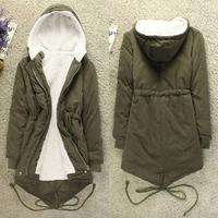 New 2014 Women Long Sleeve Thicken Fleece Hooded Parka Zipper Overcoat Winter Coat Jacket Plus Size M L XL Free Shipping R919