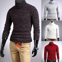 Hot sale Autumn and winter men sweater rabbit fur cashmere slim male basic turtleneck male o neck Pullovers cloth M-XL SJY315