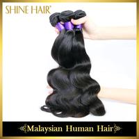 3Bundles/Lot 6A Malaysian Virgin Hair Rosa Hair Products,Human Hair Weaves Natural Colors Malaysian Body Wave,Shipping Free