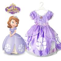 frozen elsa anna Sophia princess dress for baby kids girls christmas Halloween cosplay Party birthday gift costume purple