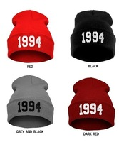 Hot Sale 2014 New Beanies 1994 Hats Hip-Hop Cotton Knitted Hat Caps Casual Skullies Hip-hop London Men And Women Free Shipping