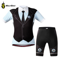 WOLFBIKE Men's Cycling Jersey Shorts Set Bike Bicycle ciclismo Quick Dry Breathable Shirt Top Tights Suit Wear Clothing