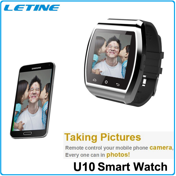 SmartWatch For iPhone 4S/5S/6 Samsung S4 Android Phone Smartphone Bluetooth WristWatch Pro U10 Watch Smart Passometer Music Call(China (Mainland))