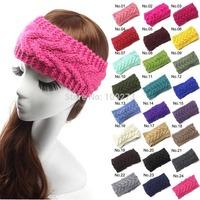 Hot Sale Hair Accessories Women Knit Crochet  Headband Winter Braid Head wrap 5pcs/lot