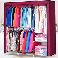 Simple hanging clothe wardrobe fashion easy folding sundries storage closet  new dust_proof portable clothe cabinet(China (Mainland))