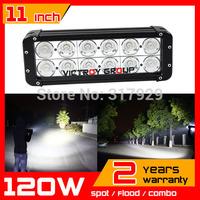 "11"" 120W LED Work Light Bar 12v 24v Spot / Flood IP67 for Tractor ATV 4X4 Offroad LED Fog Light Worklight Save on 240w"