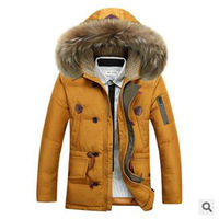 2014 Men Hooded Down Jacket  White Duck Thicken Warm  Down Coat Casual Winter Warm Overcoat WXT020