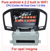 Android 4.2 Car DVD for opel insignia A9 1.5G CPU Capacitive screen Head unit GPS Bluetooth Radio CAN-BUS WIFI 3G Free shipping