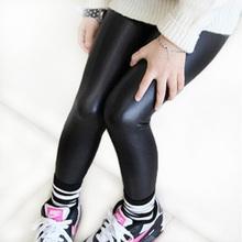2-12 años flacos negro kid cuero pantalones pantalones de niña niño legging leggins niña niño niño legging fantasia infantil(China (Mainland))
