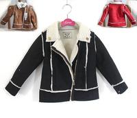 wholesale(5pcs/lot0-child girl lrs-019 winter  suede velent Splicing coat