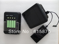 DIY 6V 1.8 watt solar charger battery AA/AAA  & 5V mobile phone charger CE certification with build-in 2400mah 18650 battery