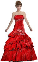 Strapless Taffeta Designer Prom Dress Fashion GW207