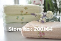 Retail 5PC 25x50cm Wooden Fiber and Cotton Mixed Spinning Children Baby Hand Towels Ultra Soft060013