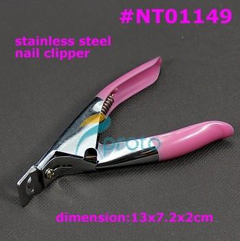 Freeshipping-240pcs/lot wholesales Pink Nail edge clipper,cut nail tips to desire length,manicure tool SKU:F0056XX