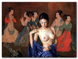 "Free shipping Oriental sexy girl pop decorative arts Prints on canvas 12x16""(China (Mainland))"