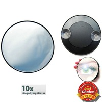 Free shipping magnifying mirror 10 times makeup Mirror with Suction Cups cosmetic mirror with sucker pocket mirror for travel