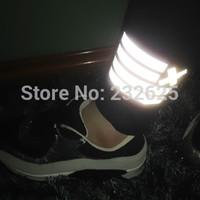 Free shipping women's new leggings 3M stripe reflective light pants, winter fleece lined reflecting lights pants, S/M/L