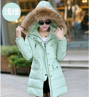 Women New Thicken Coat Jacket Cotton-down Coat Female Large Fur Collar Medium-long Outwear Plus Size S-XXL 6Colors 2014 Witner