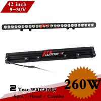 42 Inch 260W CREE LED Light Bar 12V 24V IP67 Led Light For Off Road 4x4 Truck ATV SUV Fog Light External Light VS 120W 180W 240W