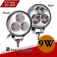 """Pair 3"""" 9W LED Work Light IP67 V12 Spot Flood For ATV Motorcycle Offroad Fog Light LED Worklight External Light Save on 18W 27W"""