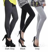 Hot Autumn And Winter Women Thickening Plus Faux Velvet Leggings Side Zipper Ankle Length Trousers Skinny Pants SV03 SV010464