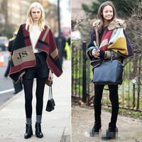 Lowest among All shop Top 850g weight fashion op ruslana korshunova ladies cape winter scarf women blanket cloak mantissas